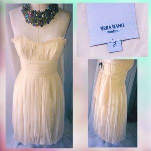 Vera Wang maids Short Bubble Dress in Ivory sz 2